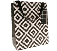 gift bag - large - aztec black