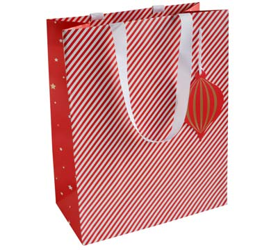 gift bag - large - candy cane