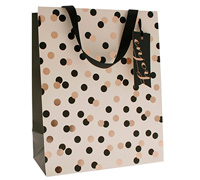 gift bag - large - confetti black/gold