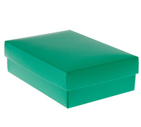 gift box - purse - emerald (textured)