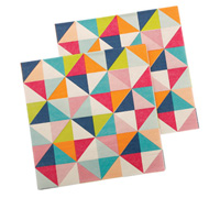 napkins - reversible 3ply - kaleidoscope