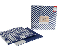 napkins reversible 3ply - navy chevron/splice