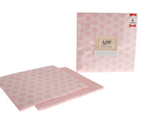 napkins reversible 3ply - pink honeycomb/dot