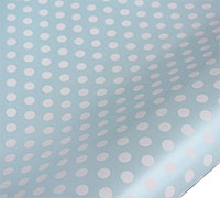 roll wrap - 5m pearlised spot blue/white - pack