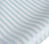 roll wrap - 5m pearlised stripe blue/white - pack