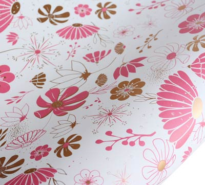 roll wrap - 5m floral days - pack
