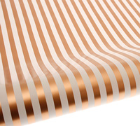 roll wrap - 5m gold stripe - pack