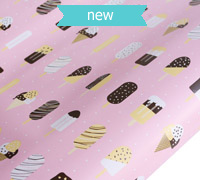 roll wrap - 5m icecream pink - pack