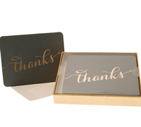 boxed thank you cards - charcoal grey/gold