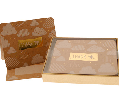 boxed thank you cards - cloud9 - kraft